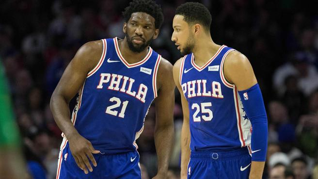 The 76ers with 27 gamesremaining